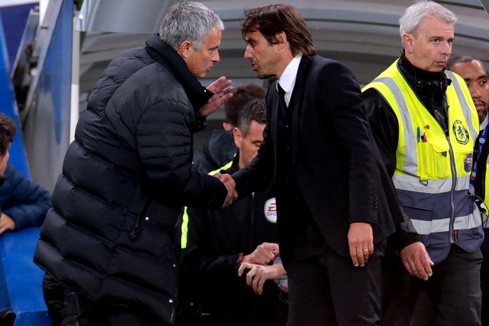 Conte negó haberle faltado al respeto a Mourinho