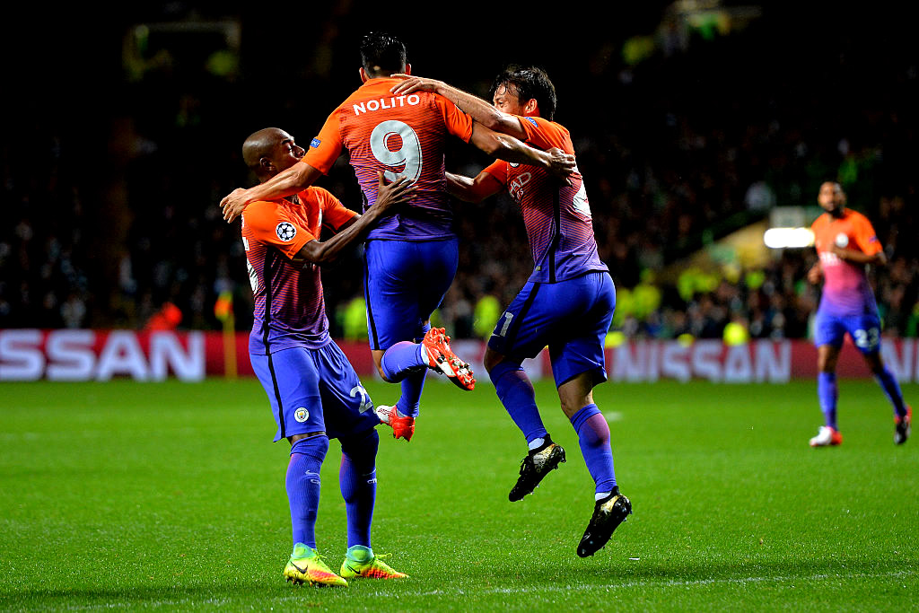 Manchester City arrancó un trabajado empate en Glasgow