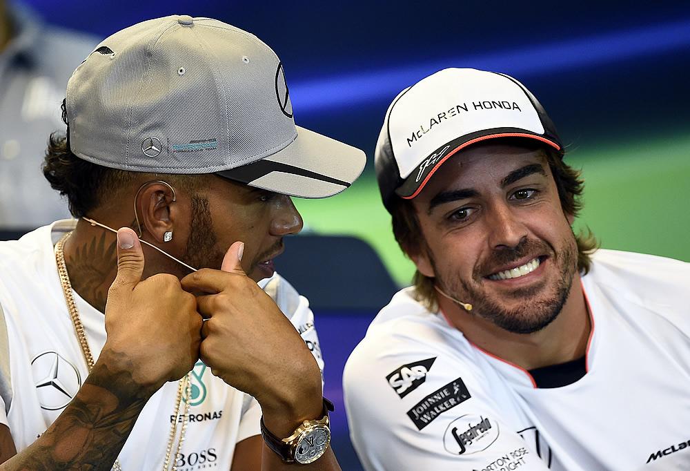 Por sanción, Hamilton y Alonso saldrán últimos en Bélgica