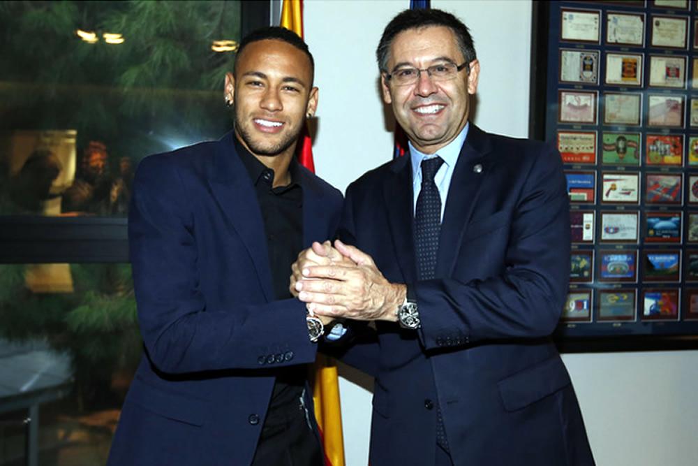 Muy contento por renovar con el Barça: Neymar