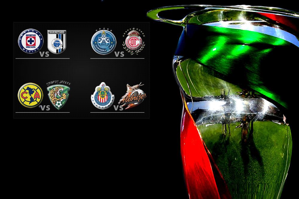 Listos los cuartos de final de la copa mx mediotiempo for Euroliga cuartos de final
