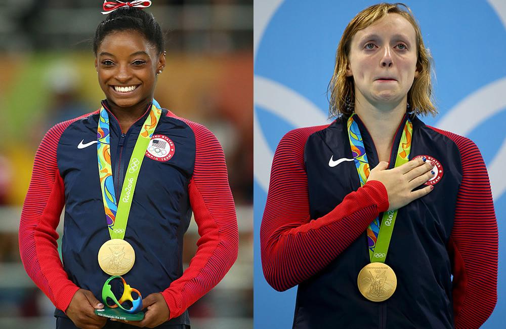 Simone Biles y Katie Ledecky, deportistas adolescentes más influyentes