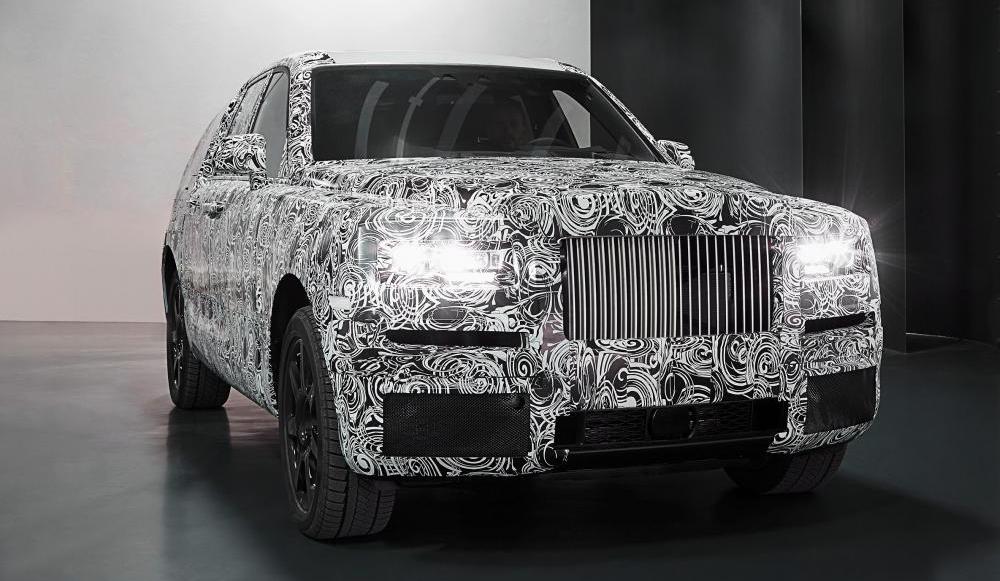 Llega el primer SUV de Rolls Royce totalmente camuflado