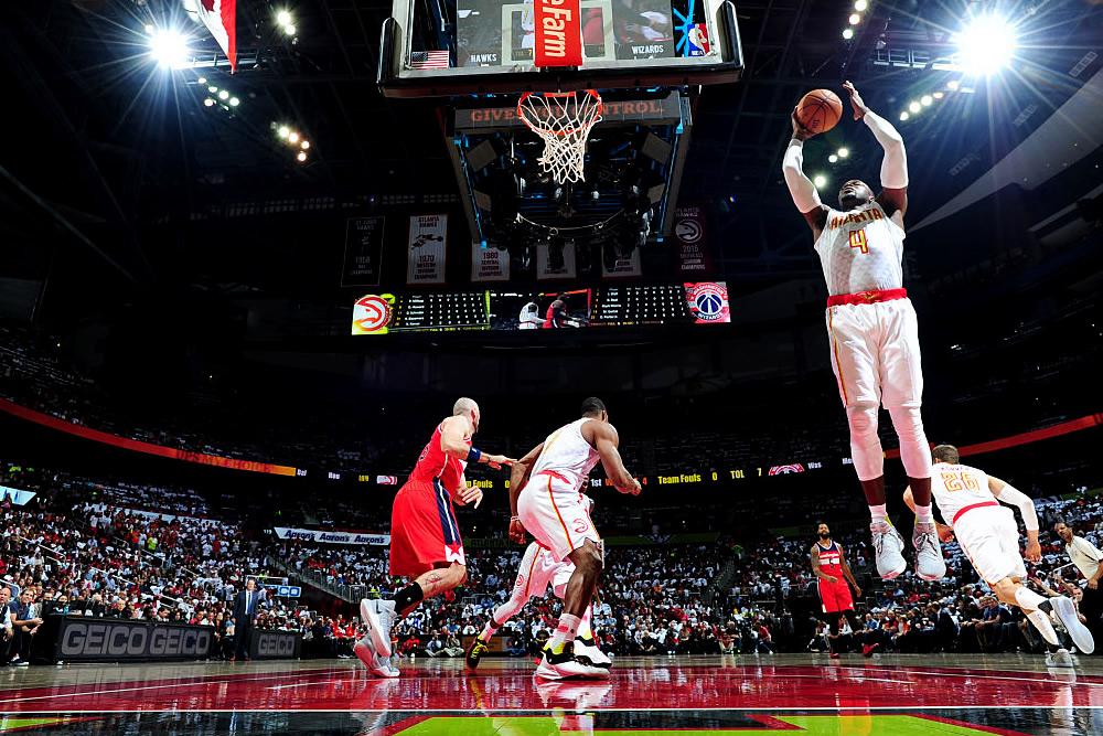 De la mano de Paul Millsap, Hawks se llevó juego ante Wizards