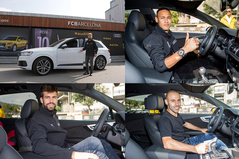 Jugadores del Barça tuvieron una veloz experiencia