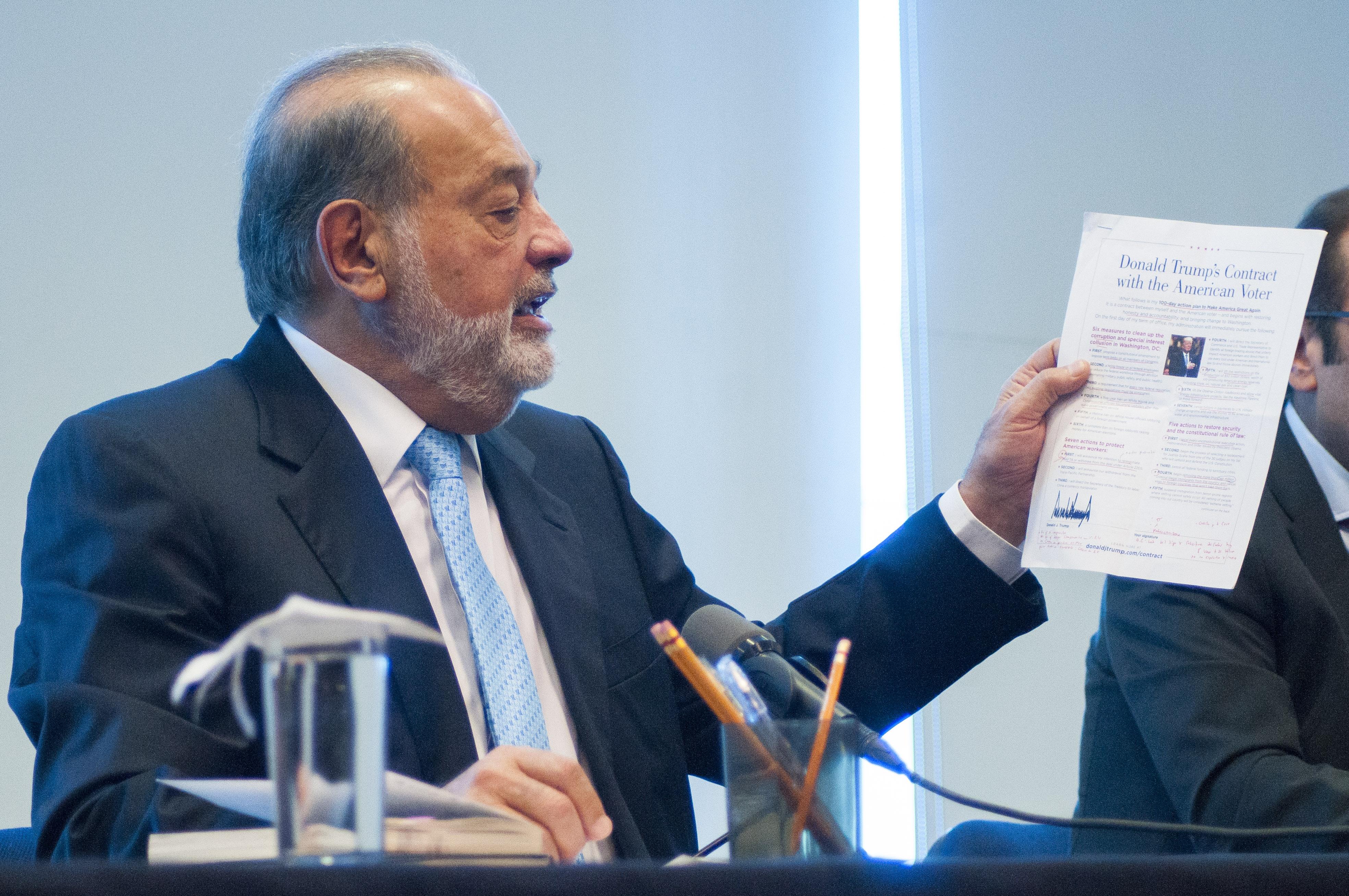 El #EfectoTrump impacta a la fortuna de Carlos Slim