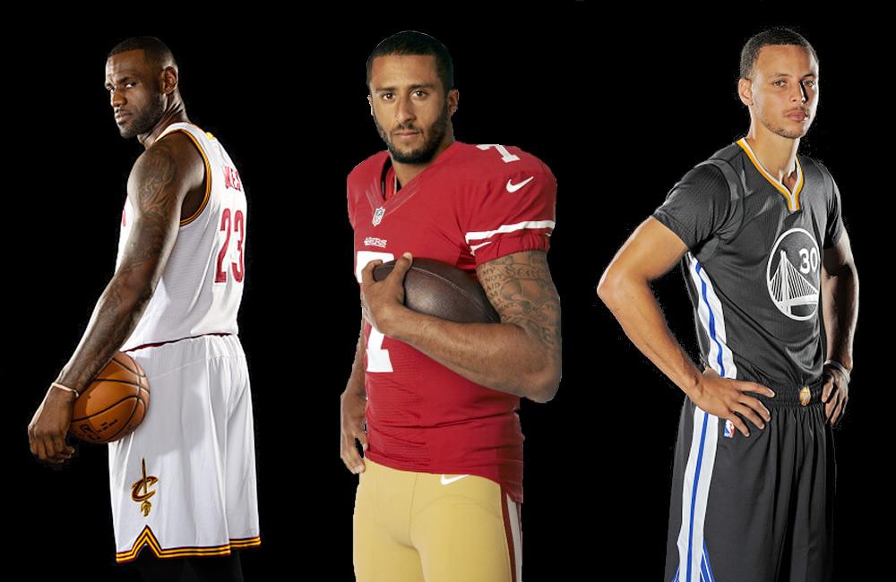 LeBron James y Steph Curry apoyan protesta de Kaepernick