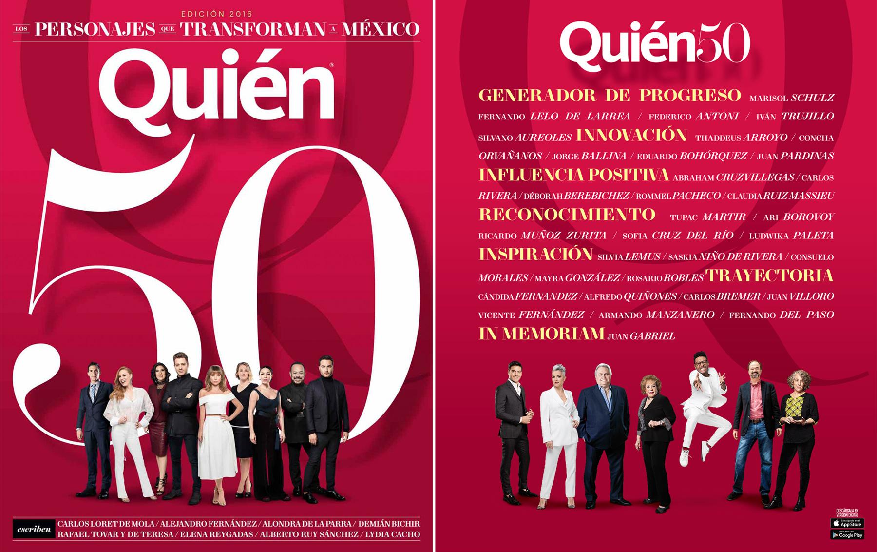 Quién 50: Los personajes que transforman a México