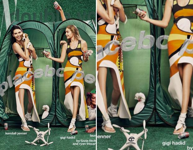 Kendall y Gigi: víctimas del Photoshop