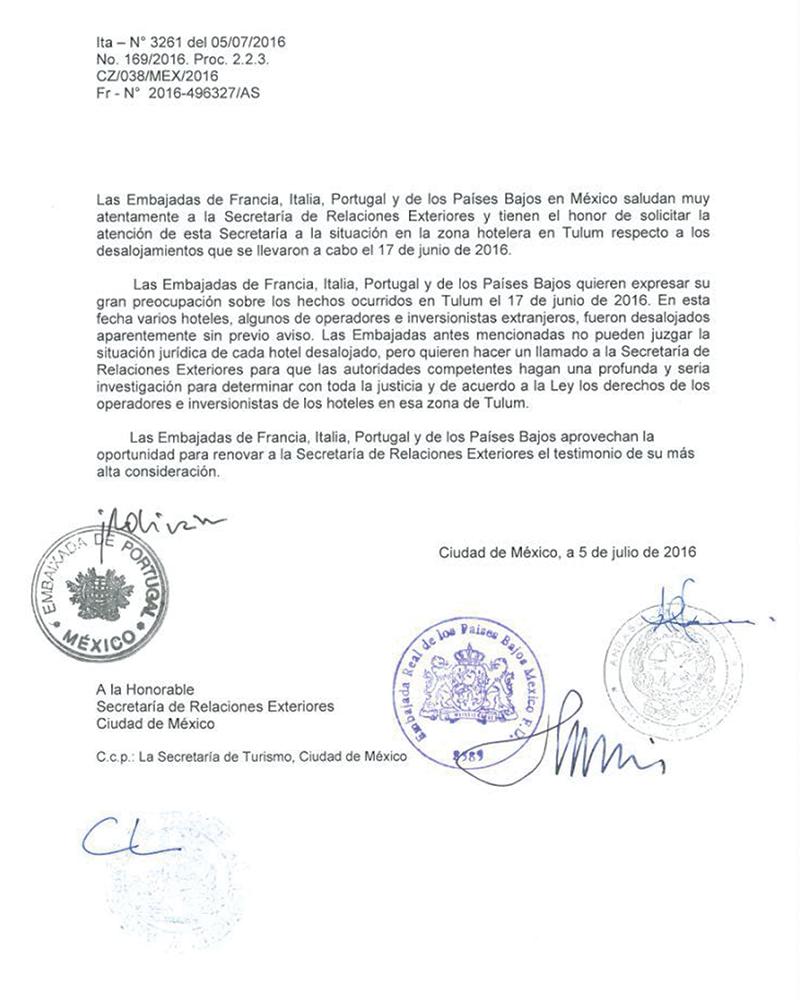 Italia Francia Y Portugal Reclaman A M Xico Los Desalojos En Tulum Expansi N