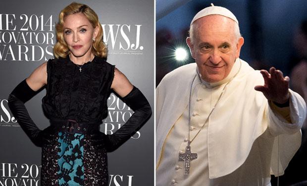 Mueren Madonna y el Papa el mismo día